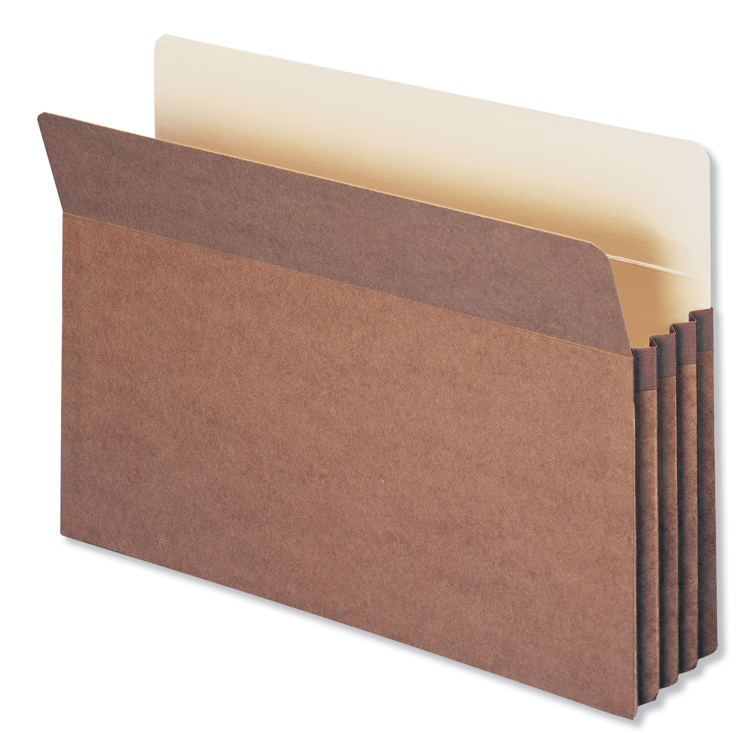 """Redrope Drop Front File Pockets, 3.5"""" Expansion, Legal Size, Redrope, 25/Box"""