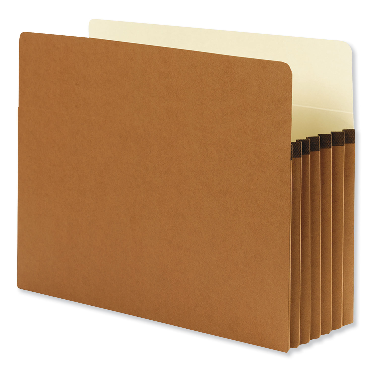 """Redrope Drop Front File Pockets, 5.25"""" Expansion, Letter Size, Redrope, 10/Box"""