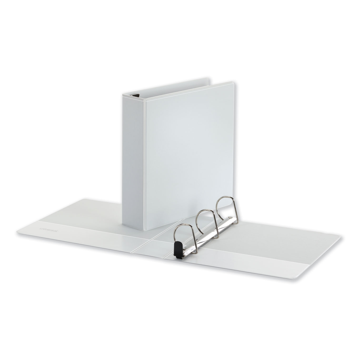 """Deluxe Easy-to-Open D-Ring View Binder, 3 Rings, 2"""" Capacity, 11 x 8.5, White"""