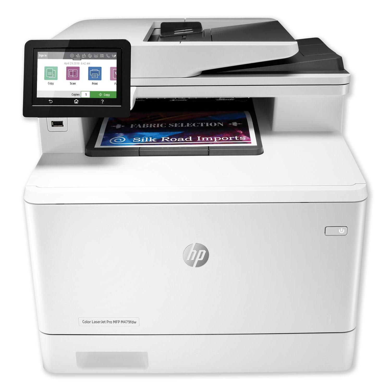 Color LaserJet Pro MFP M479fdw Wireless Multifunction Laser Printer, Copy/Fax/Print/Scan