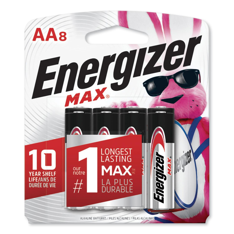 MAX Alkaline AA Batteries, 1.5V, 8/Pack