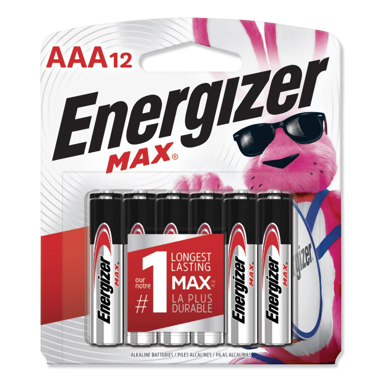 MAX Alkaline AAA Batteries, 1.5V, 12/Pack