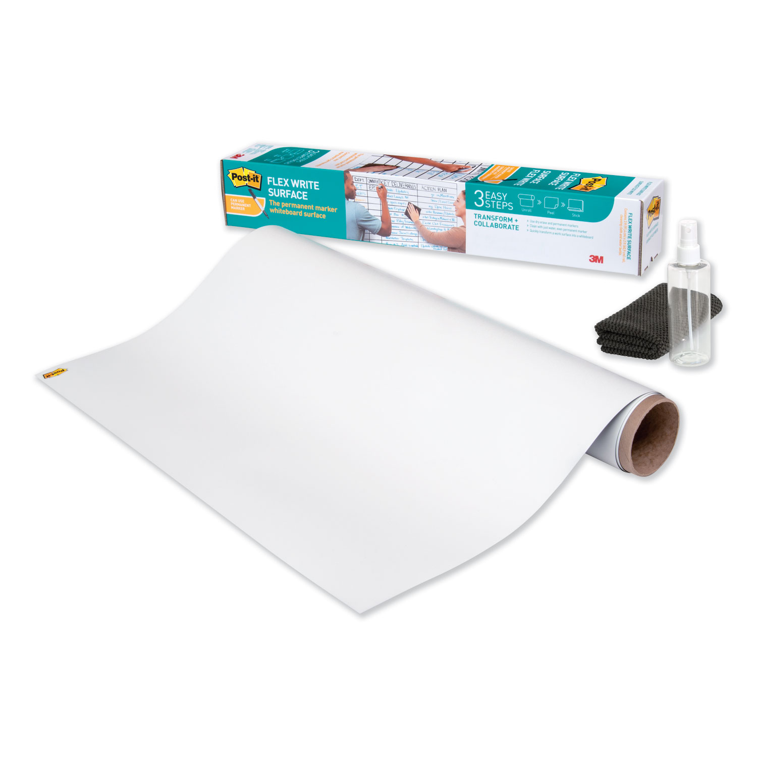"Flex Write Surface, 50 ft x 48"", White"