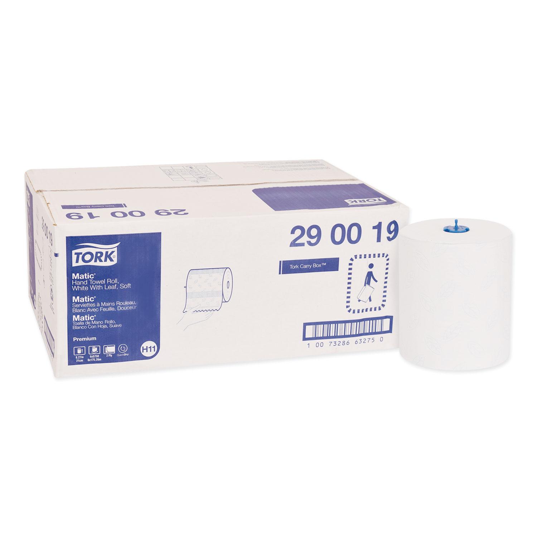 "Premium Soft Matic Hand Towel Roll, 8.27"" x 575 ft, White, 6 Rolls/Carton"