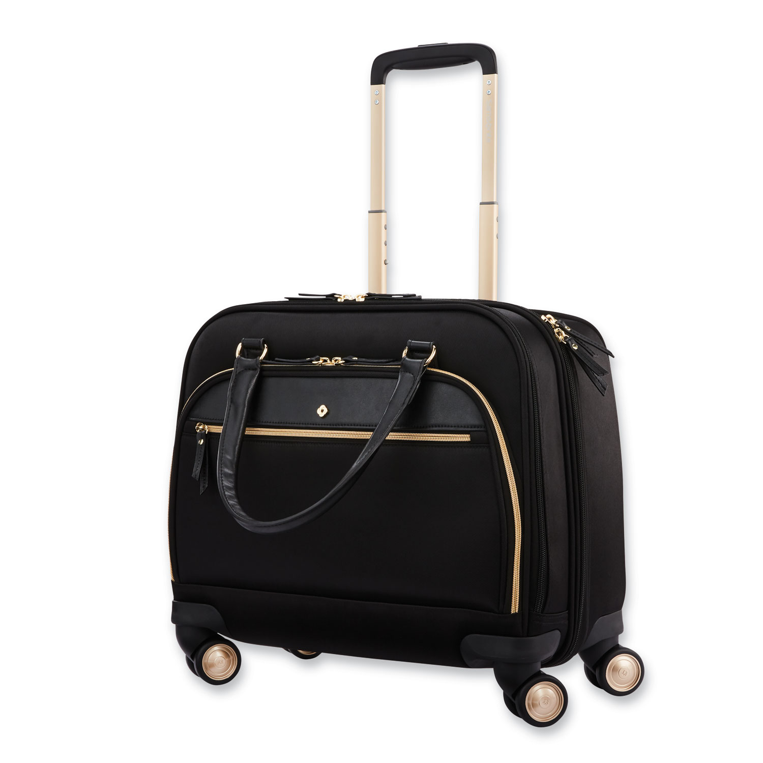 """Mobile Solution Mobile Office Case, Fits Laptops up to 15.6"""", 16.5 x 7 x 15.5, Black"""