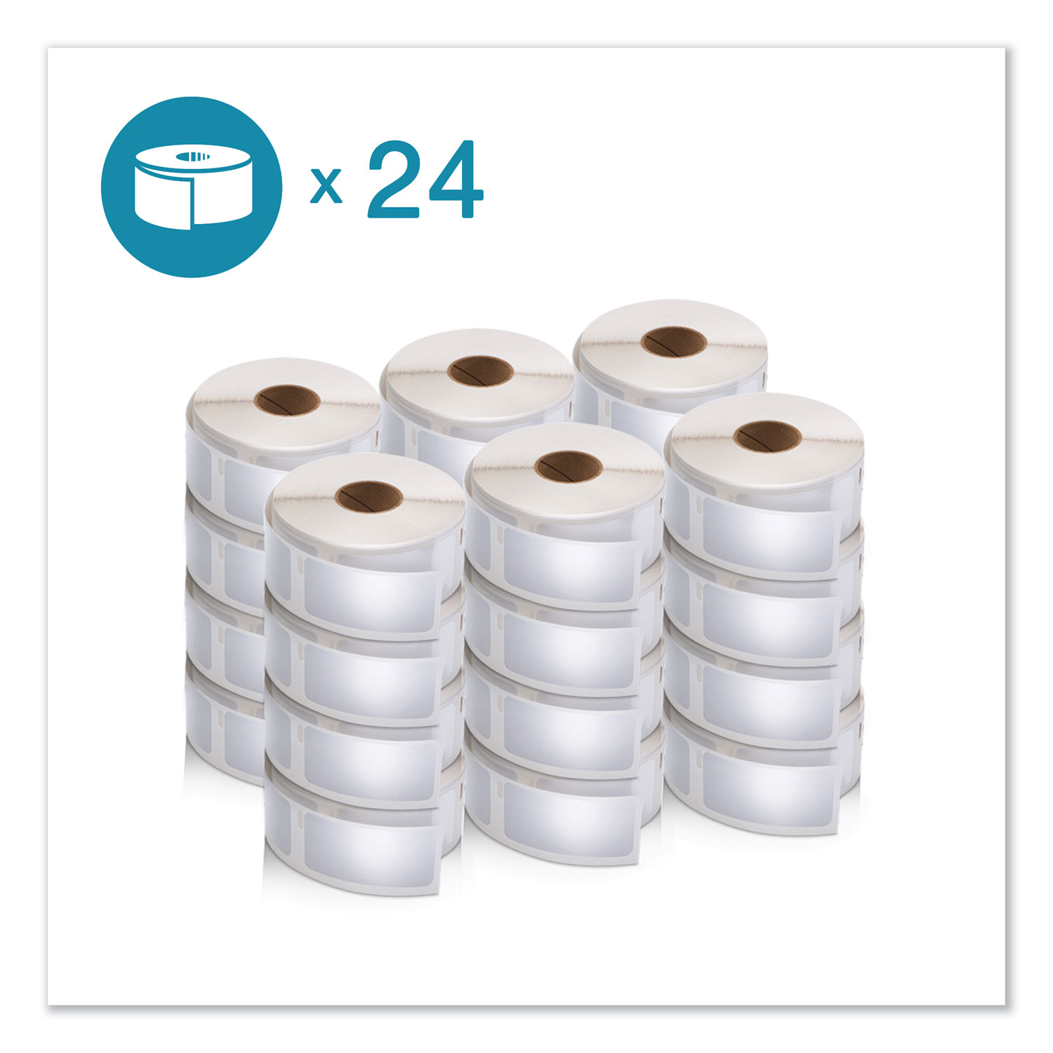 "LW Multipurpose Labels, 1"" x 2.13"", White, 500/Roll, 24 Rolls/Pack"