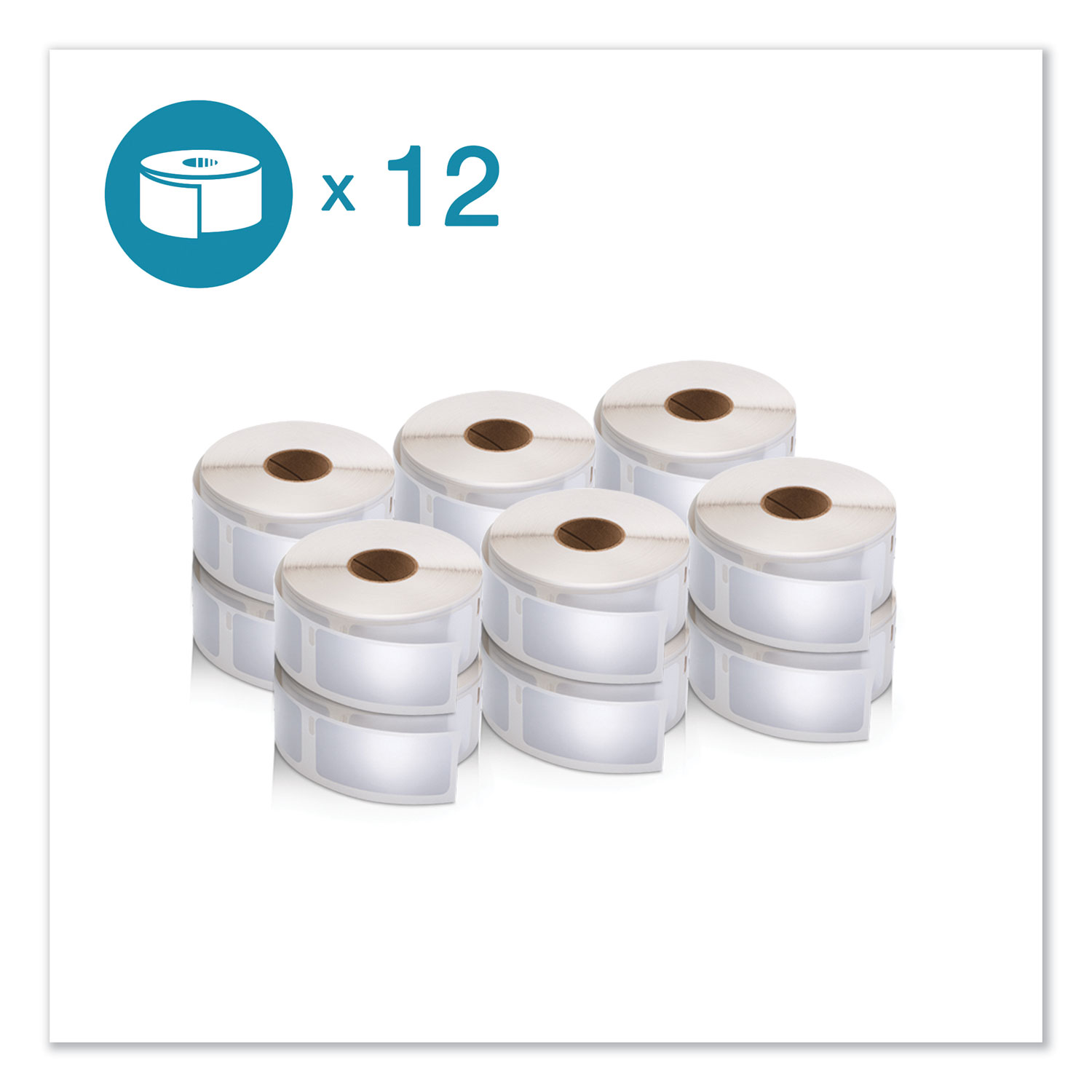 """LW Multipurpose Labels, 1"""" x 2.13"""", White, 500/Roll, 12 Rolls/Pack"""