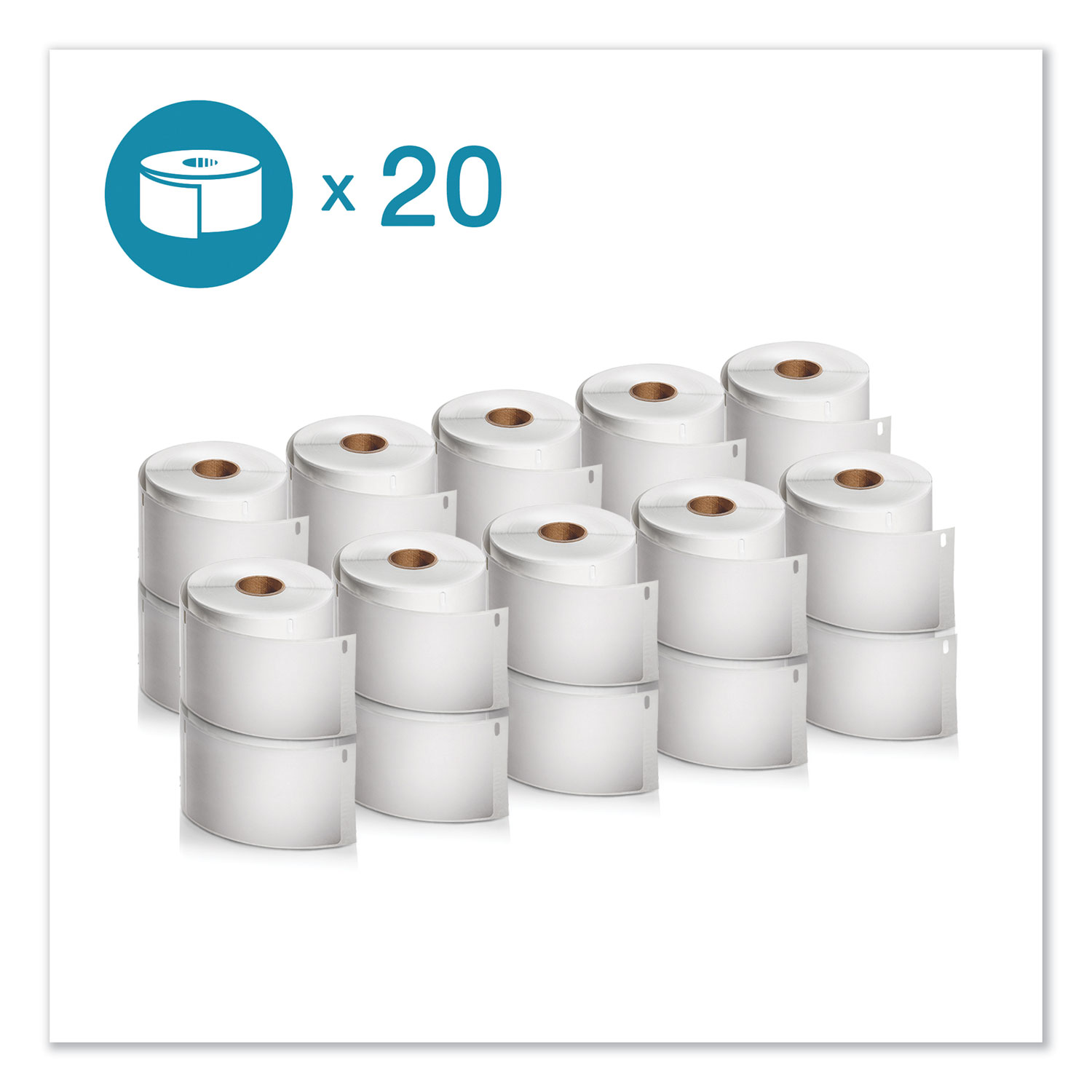 "LW Extra-Large Shipping Labels, 4"" x 6"", White, 220/Roll, 20 Rolls/Pack"
