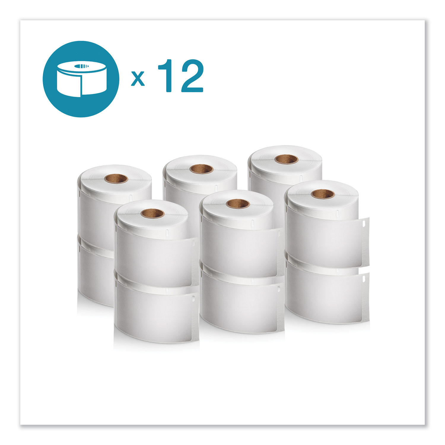 """LW Shipping Labels, 2.31"""" x 4"""", White, 300/Roll, 12 Rolls/Pack"""