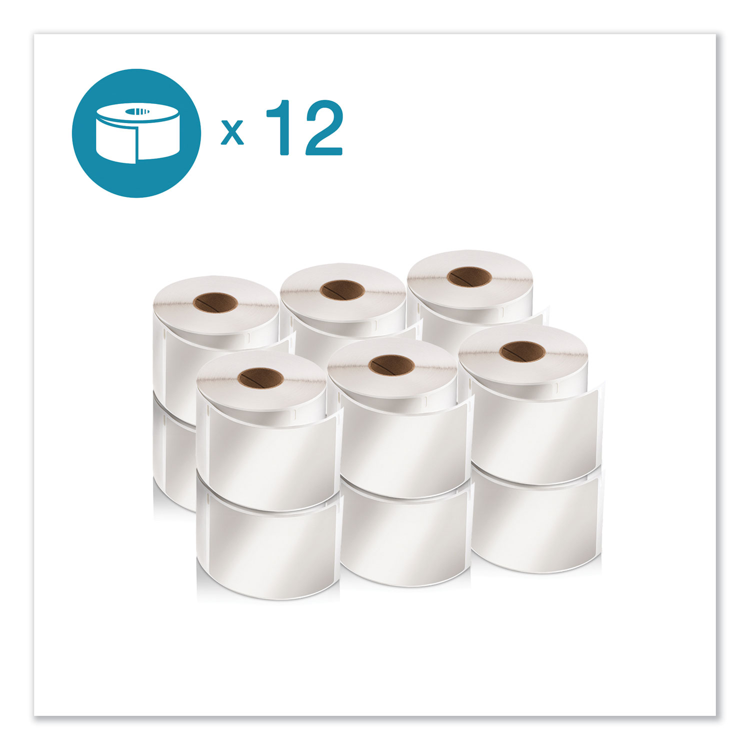 """LW Shipping Labels, 2.13"""" x 4"""", White, 220/Roll, 12 Rolls/Pack"""