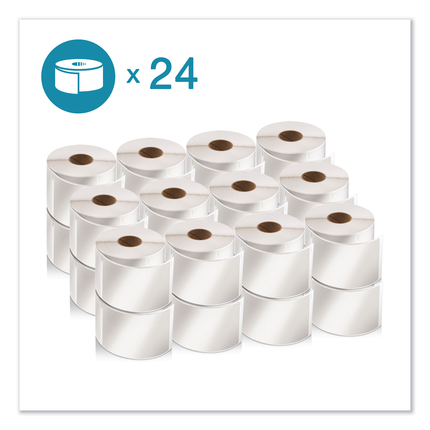 "LW Shipping Labels, 2.13"" x 4"", White, 220/Roll, 24 Rolls/Pack"