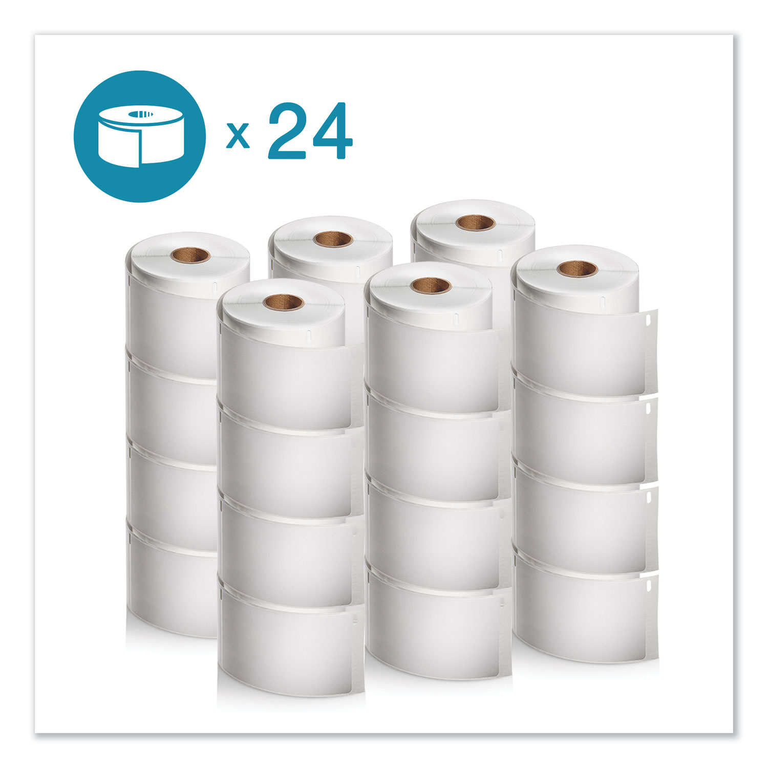 "LW Shipping Labels, 2.31"" x 4"", White, 300/Roll, 24 Rolls/Pack"
