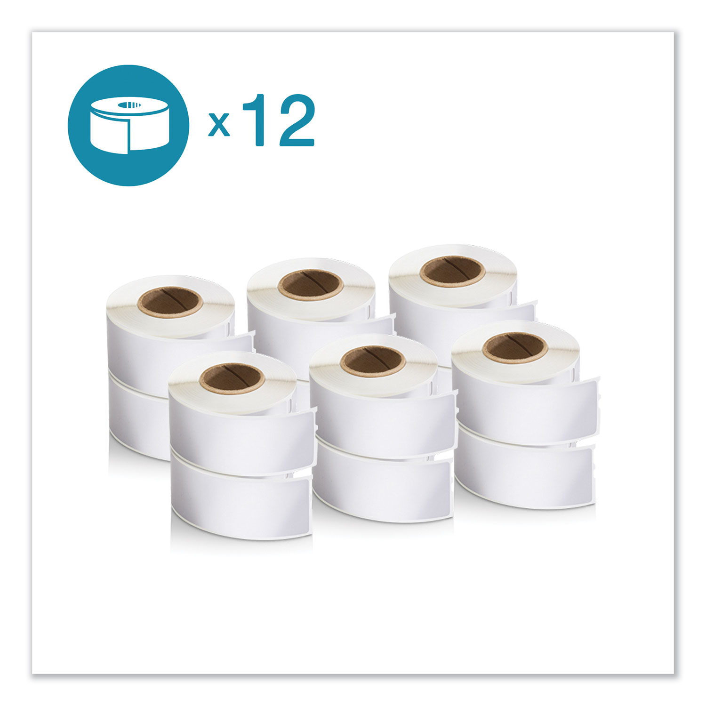 "LW Address Labels, 1.13"" x 3.5"", White, 350/Roll, 12 Rolls/Pack"
