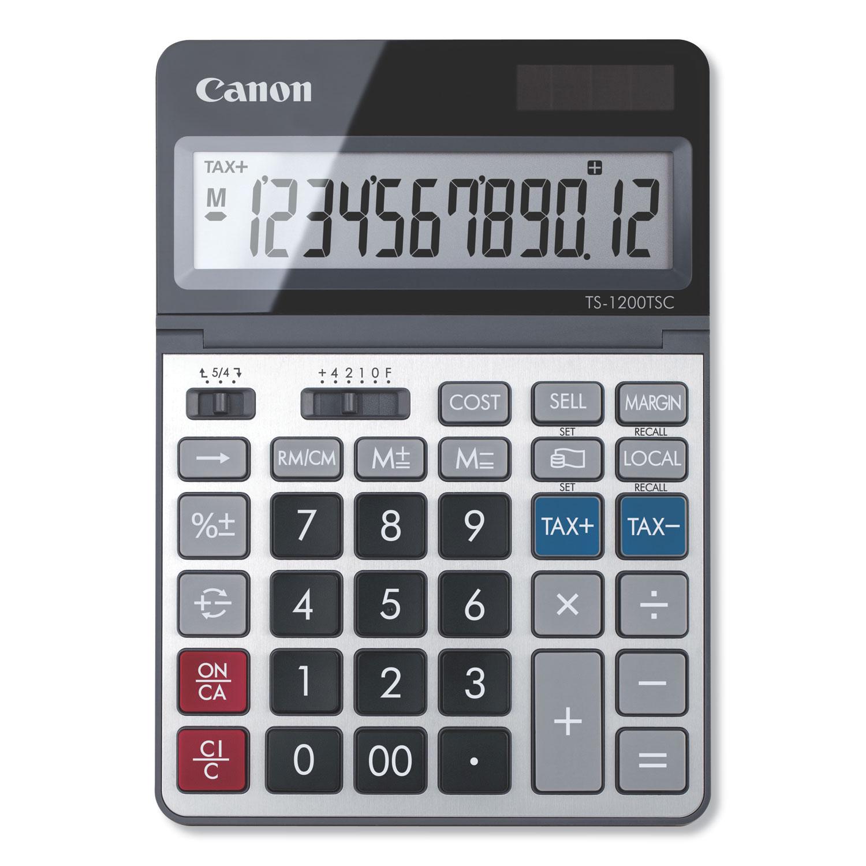TS-1200TSC Desktop Calculator, 12-Digit LCD