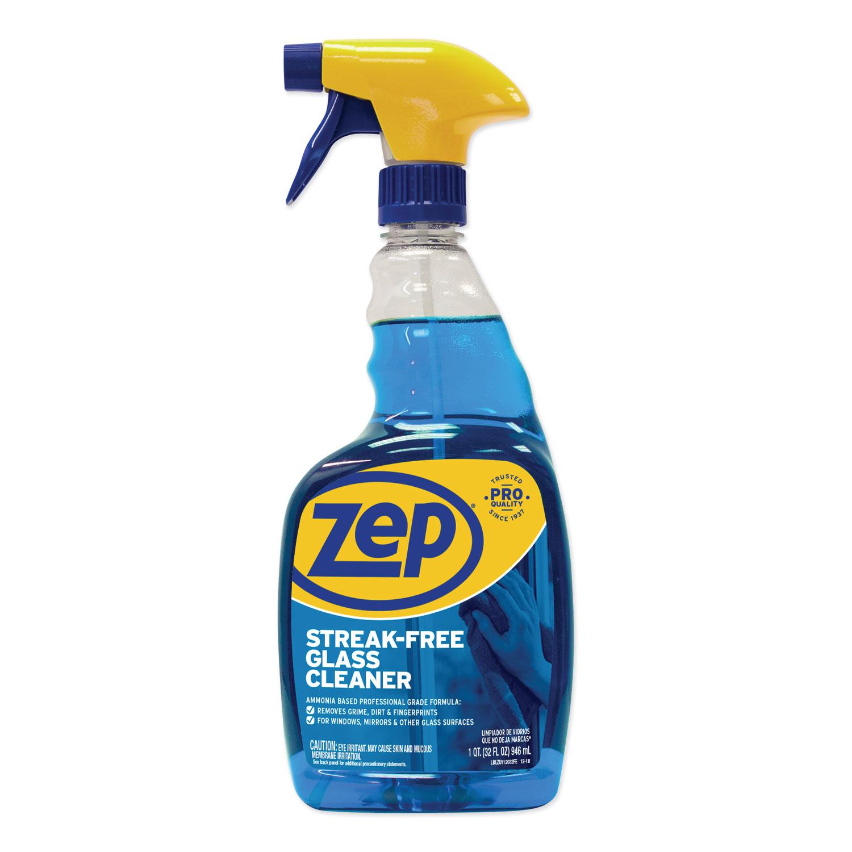 Streak-Free Glass Cleaner, Pleasant Scent, 32 oz Spray Bottle