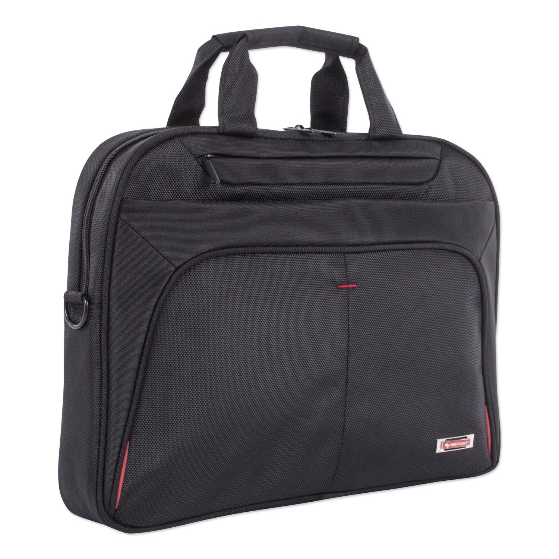 "Purpose Slim Executive Briefcase, Hold Laptops 15.6"", 2.5"" x 2.5"" x 12"", Black"