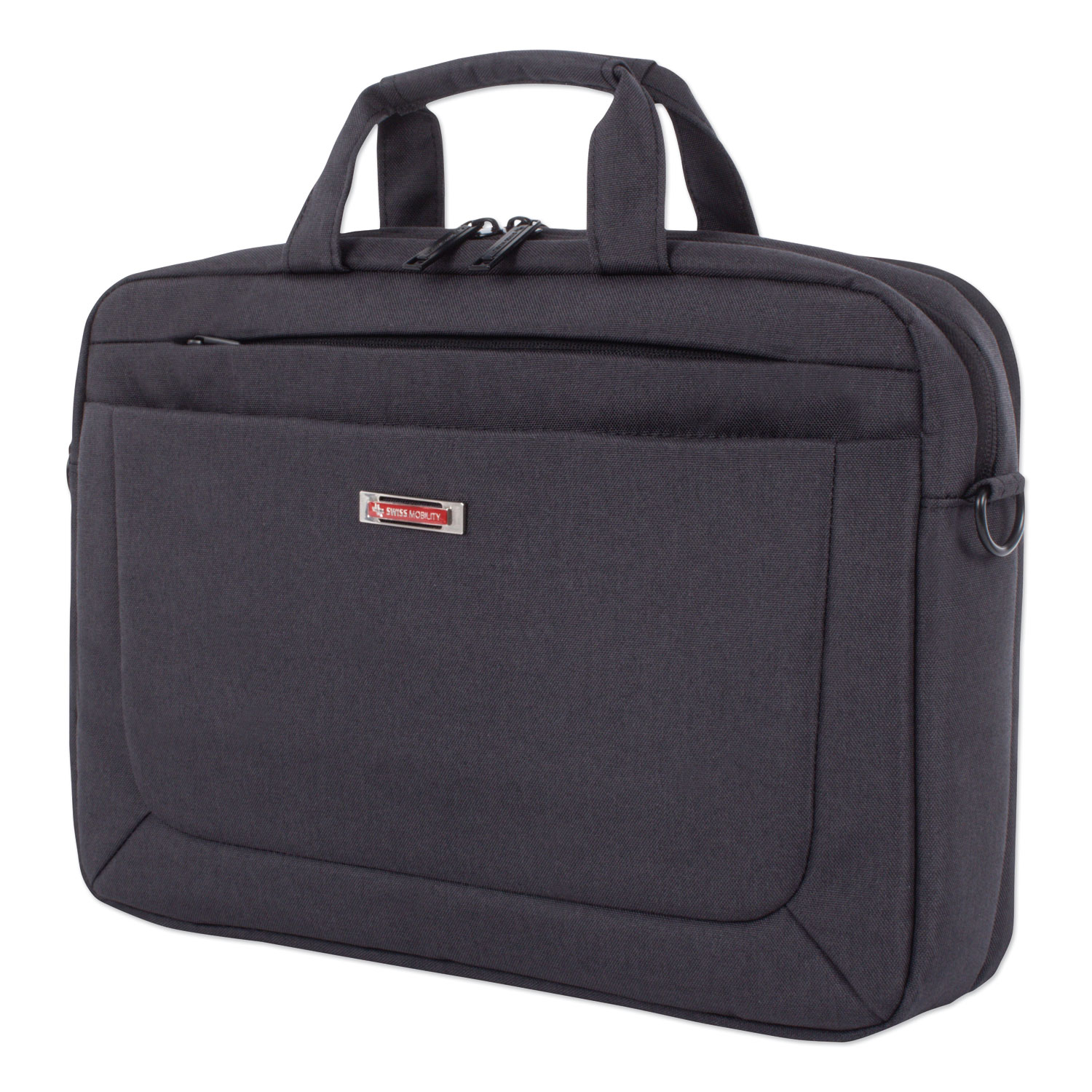 """Cadence 2 Section Briefcase, Holds Laptops 15.6"""", 4.5"""" x 4.5"""" x 16"""", Charcoal"""