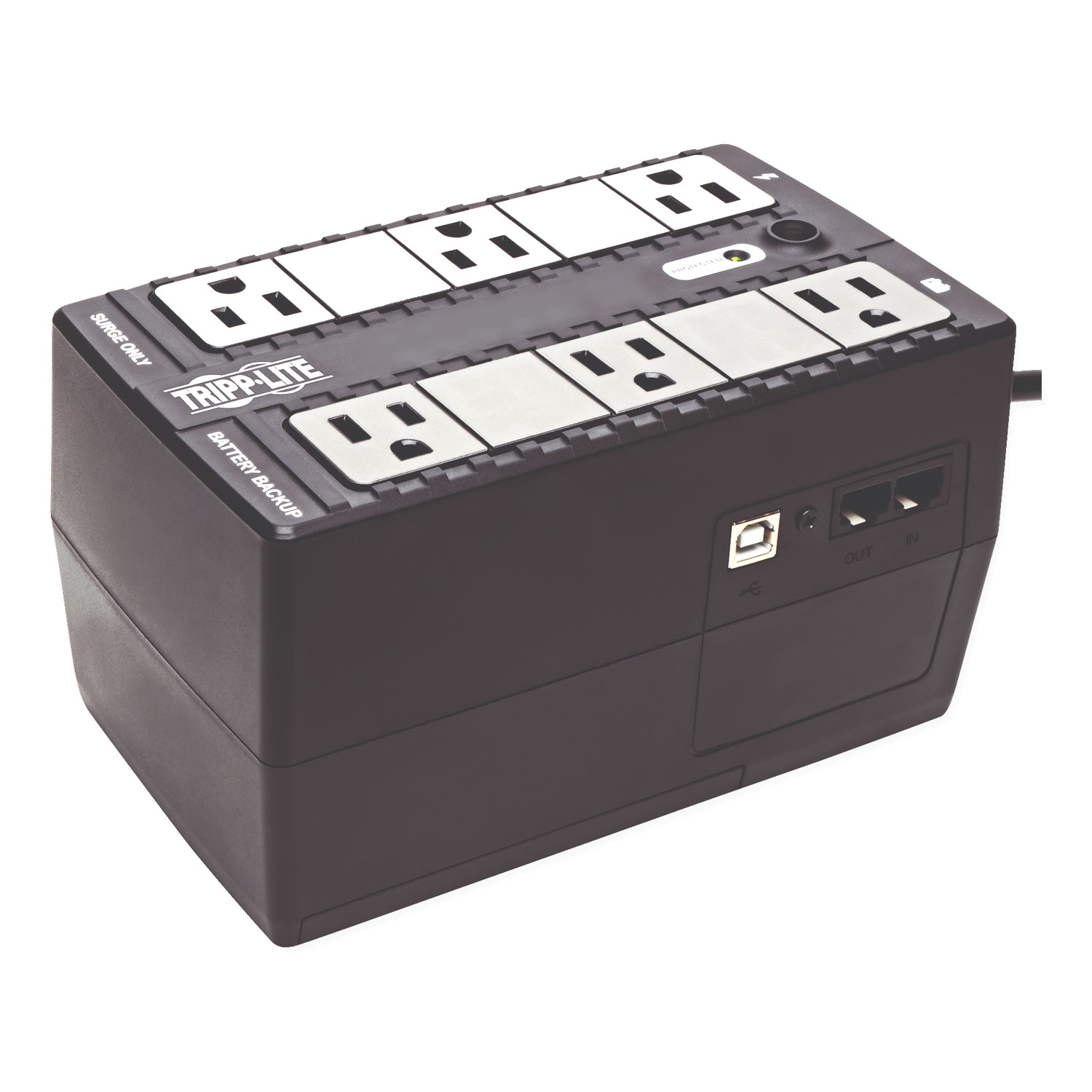 Internet Office Ultra-Compact Desktop Standby UPS, USB, 6 Outlets, 350 VA, 380 J