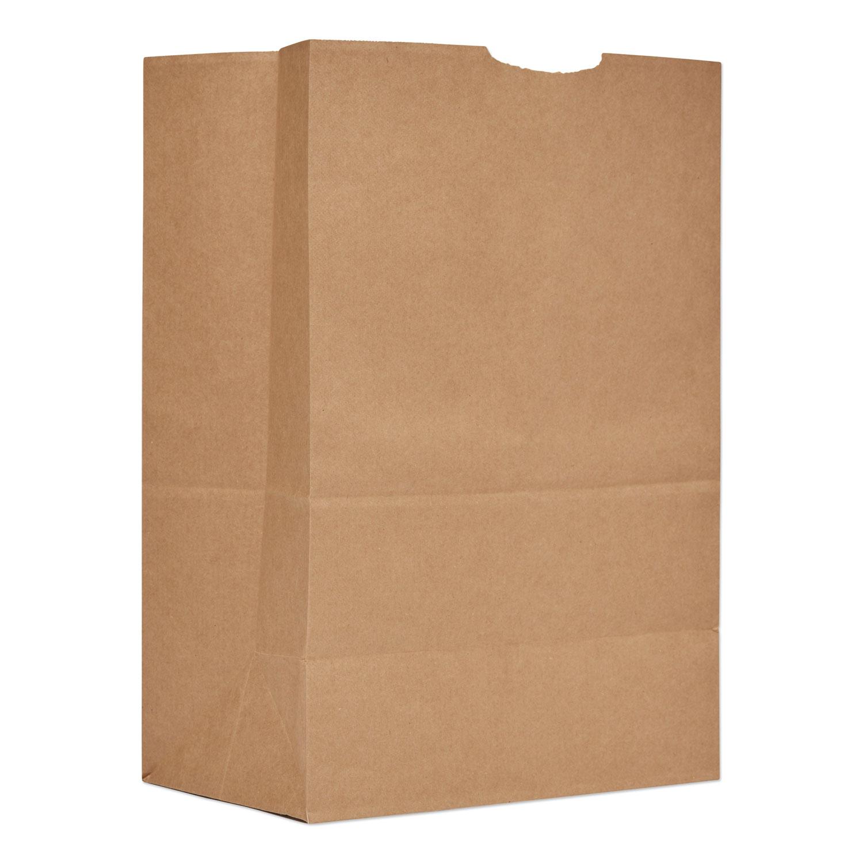 "Grocery Paper Bags, 57 lbs Capacity, 1/6 BBL, 12""w x 7""d x 17""h, Kraft, 500 Bags BAGSK1657"