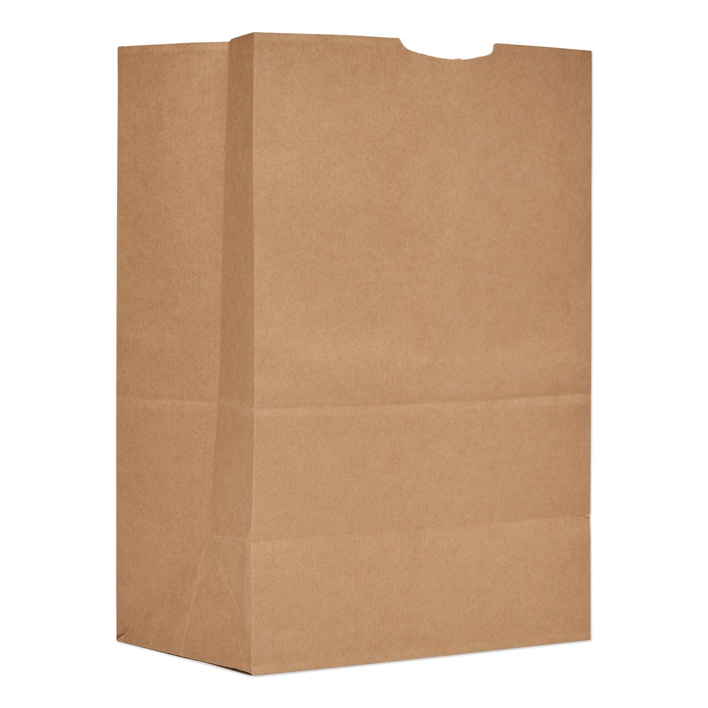 "Grocery Paper Bags, 52 lbs Capacity, 1/6 BBL, 12""w x 7""d x 17""h, Kraft, 500 Bags BAGSK1652"