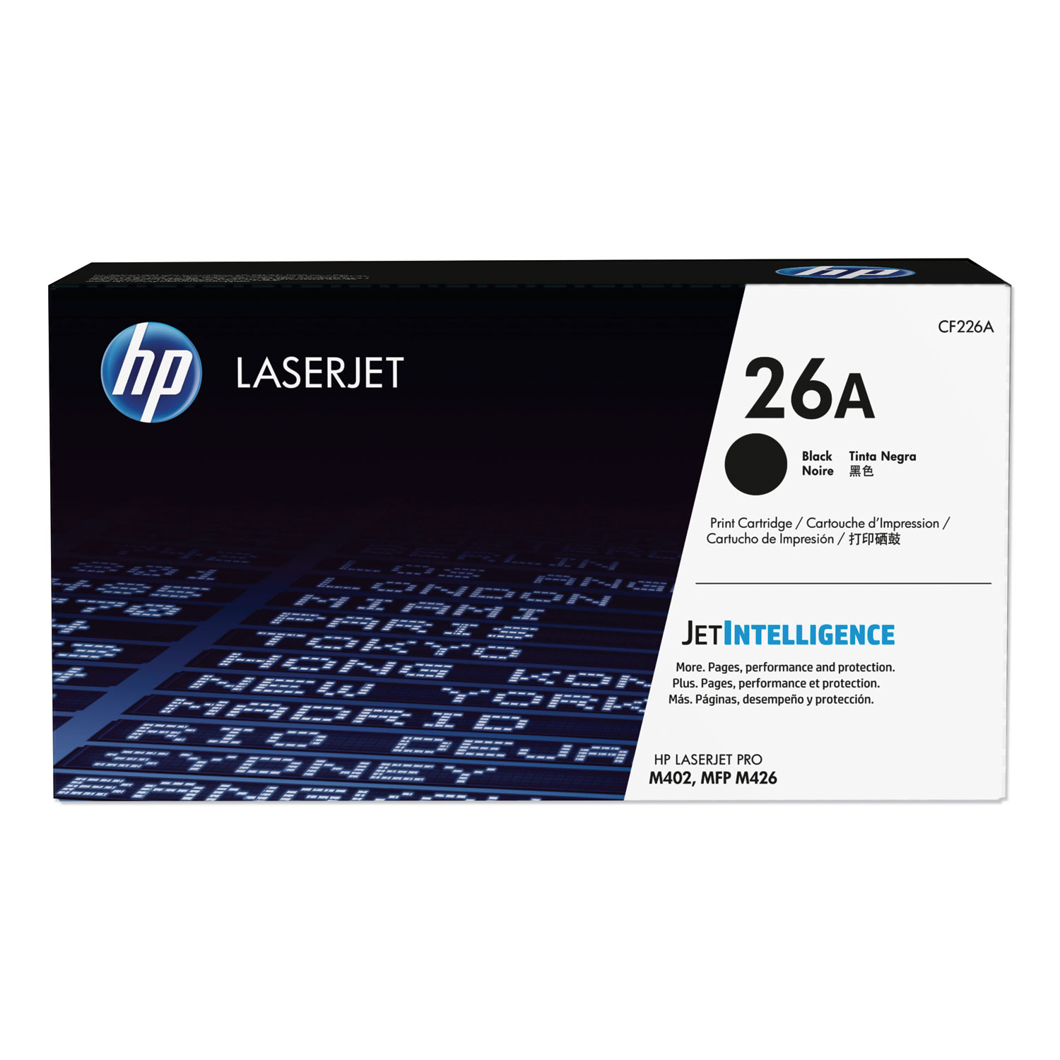 HP 26A, (CF226AD1) 2-Pack Black Original LaserJet Toner Cartridge