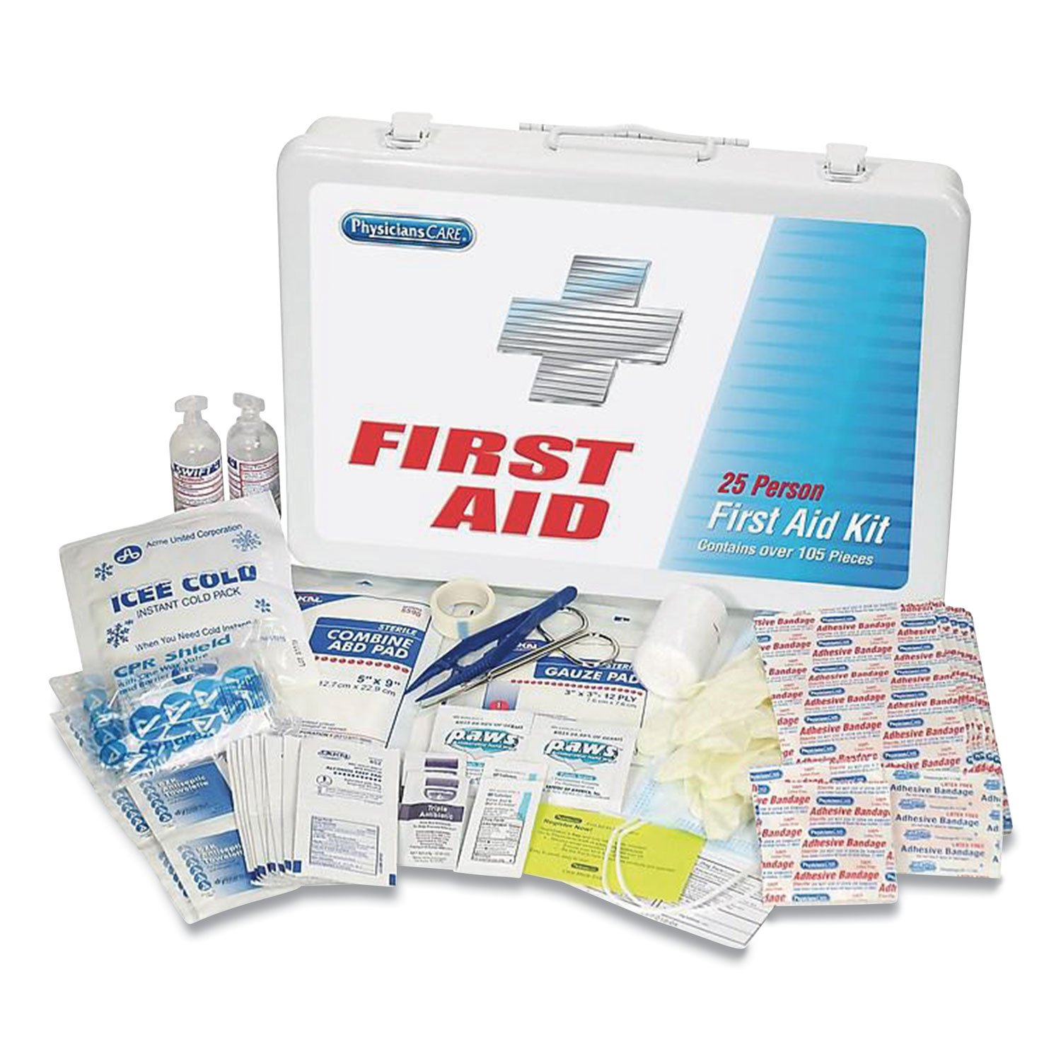 PhysiciansCare® by First Aid Only® First Aid Kit for Up to 25 People, 125 Pieces