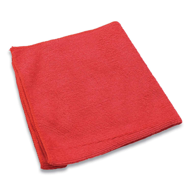Lightweight Microfiber Cloths, 16 x 16, Red, 240/Carton