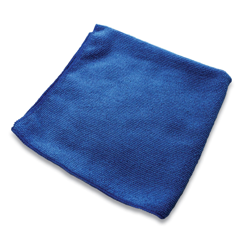 Lightweight Microfiber Cloths, 16 x 16, Blue, 240/Carton