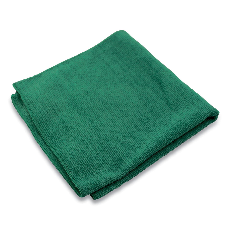 Lightweight Microfiber Cloths, 16 x 16, Green, 240/Carton