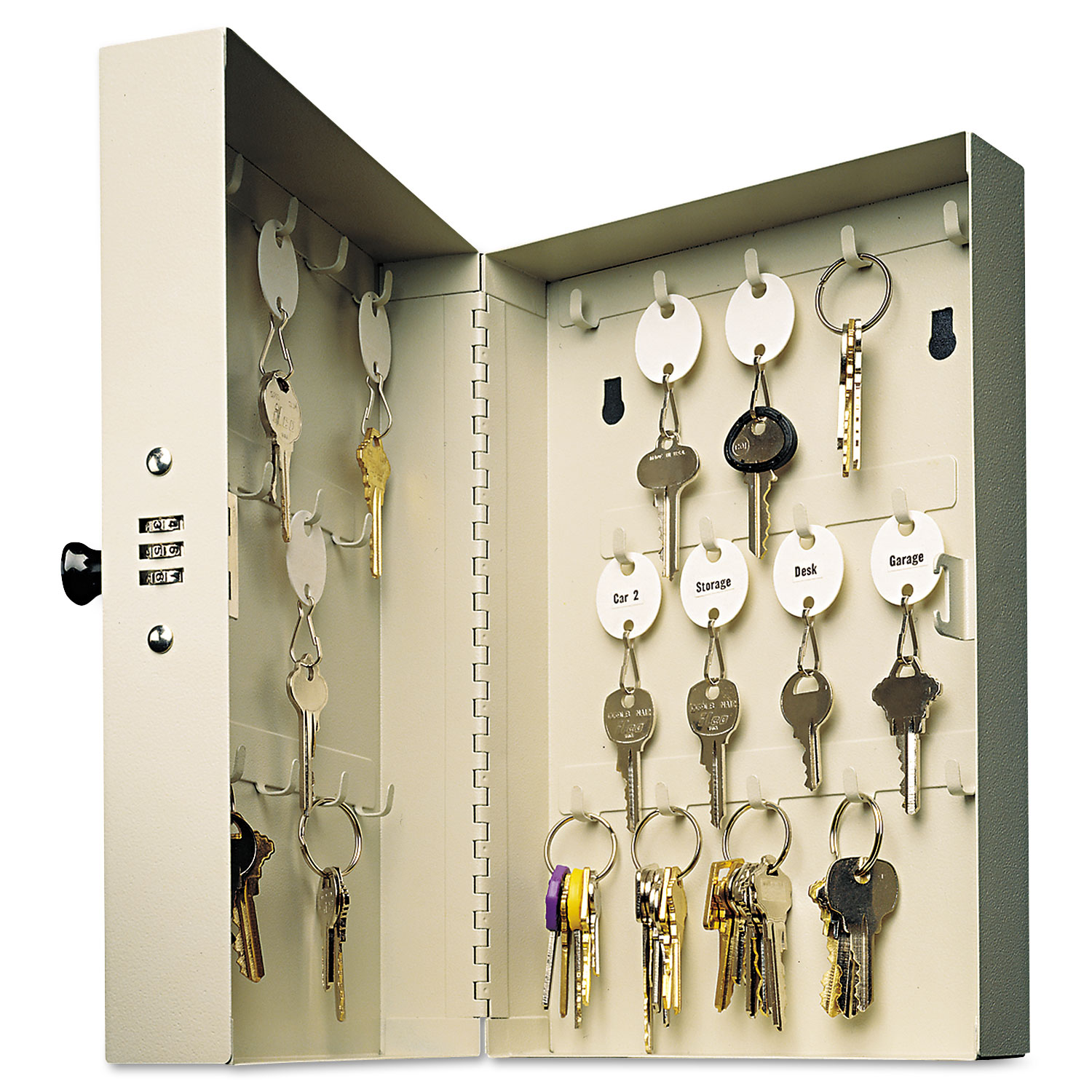 MMF201202889 Thumbnail 1 · MMF201202889 Thumbnail 2  sc 1 st  On Time Supplies & Hook-Style Key Cabinet by SteelMaster® MMF201202889 | OnTimeSupplies.com
