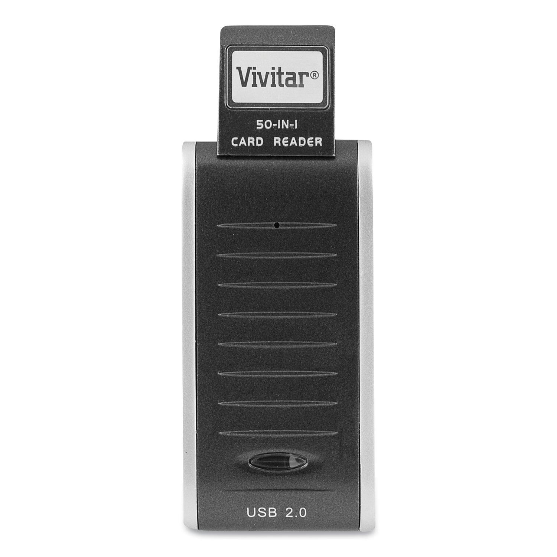 Vivitar® RW-50 50-in-1 Card Reader/Writer, USB 2.0, Mac OS/Microsoft