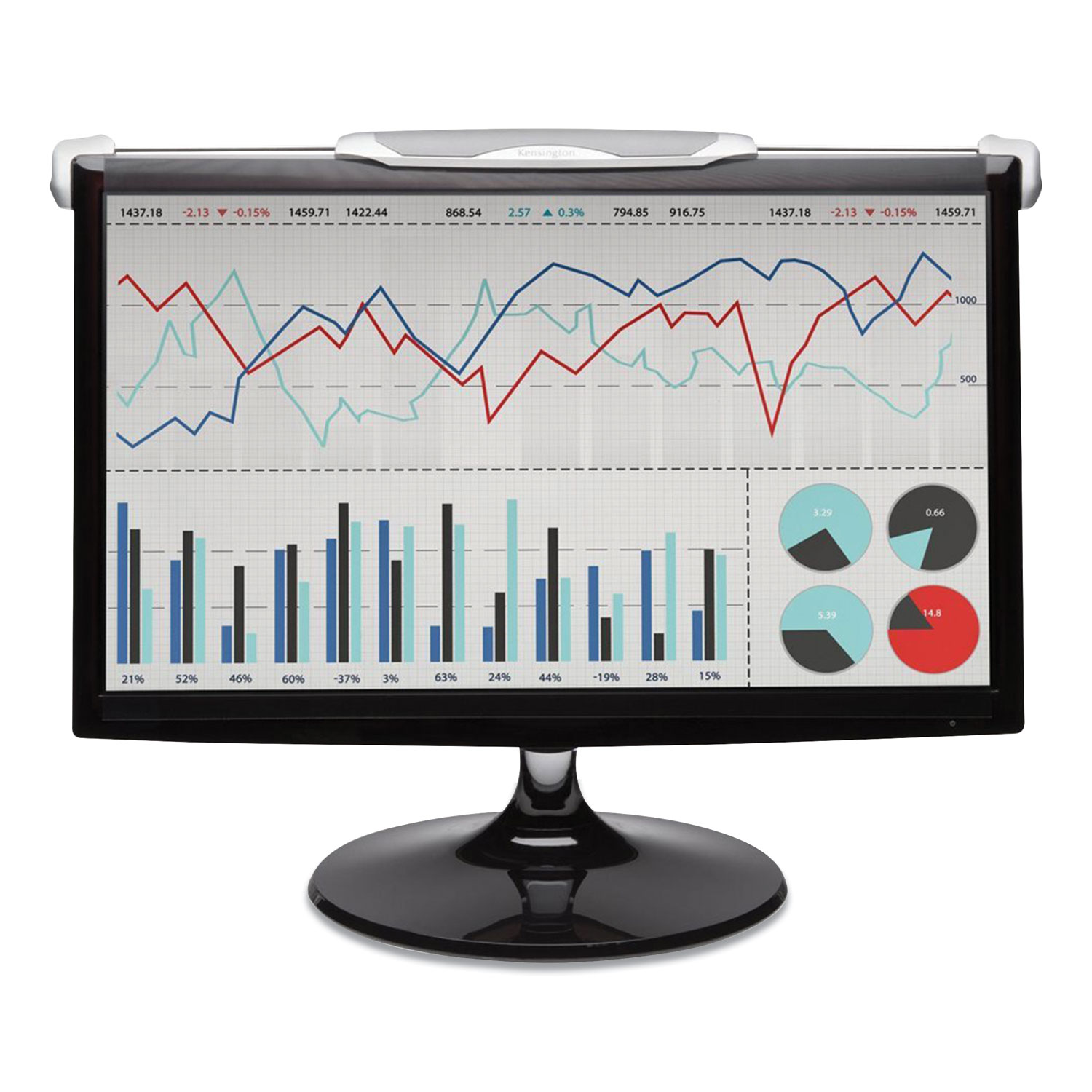 Kensington® Snap 2 Flat Panel Privacy Filter for 17 Widescreen Monitor, 16:10 Aspect Ratio