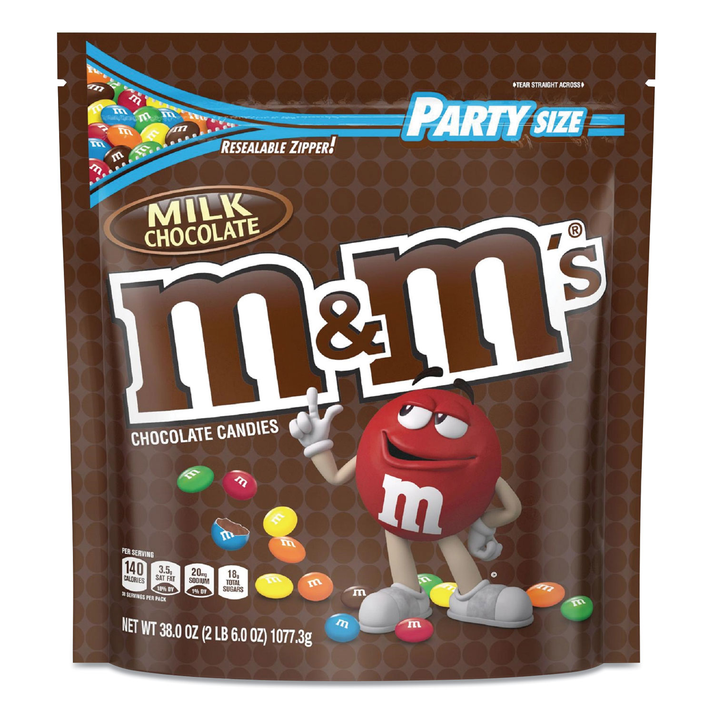 M & Ms® Milk Chocolate Candies, Milk Chocolate, 38 oz Bag