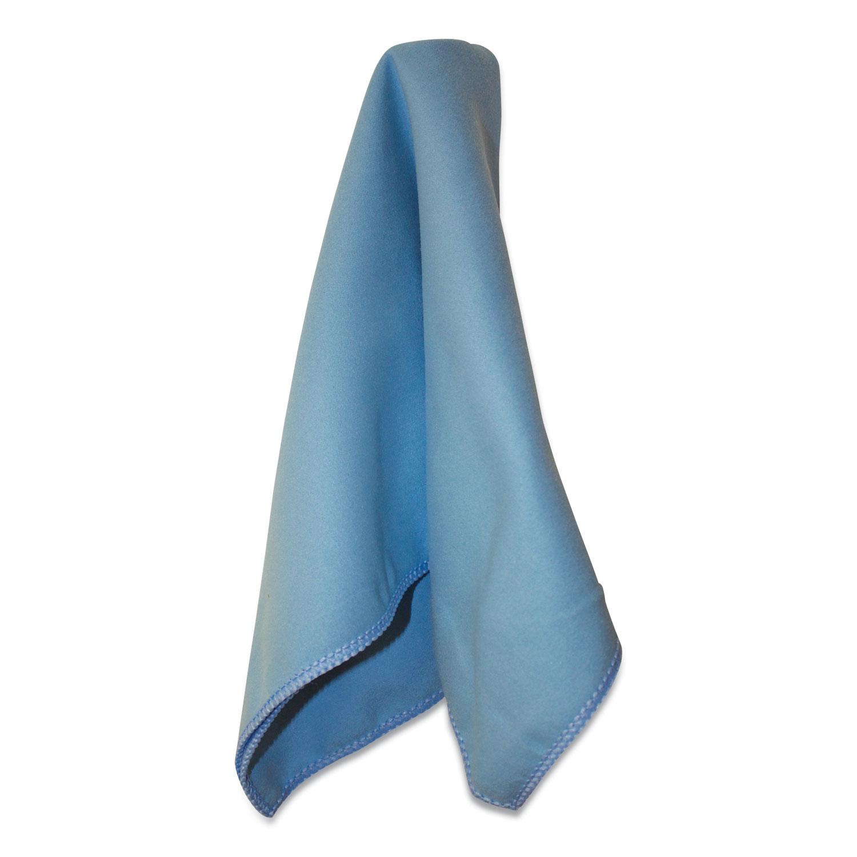 Lightweight Microfiber Cloths, 16 x 16, Blue, 12/Pack, 18 Packs/Carton