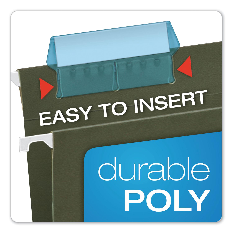 "Pendaflex Hanging File Folder Tabs 1//5 Tab 2/"" Blue Tab//White Insert 25//Pack"