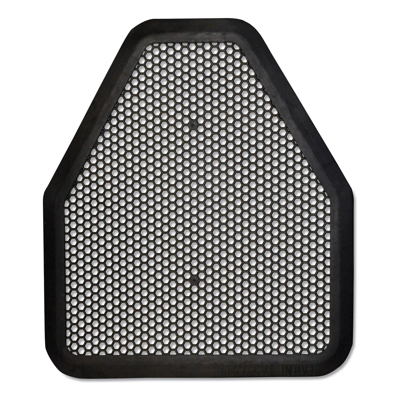 TOLCO® Urinal Mat, 20.75 x 18.5, Black, 6/Carton