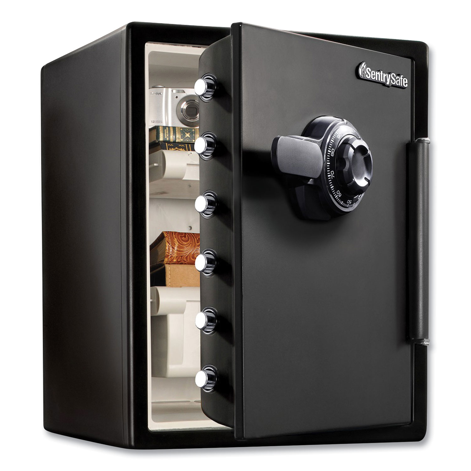 Fire-Safe with Combination Access, 2 cu ft, 18.6w x 19.3d x 23.8h, Black