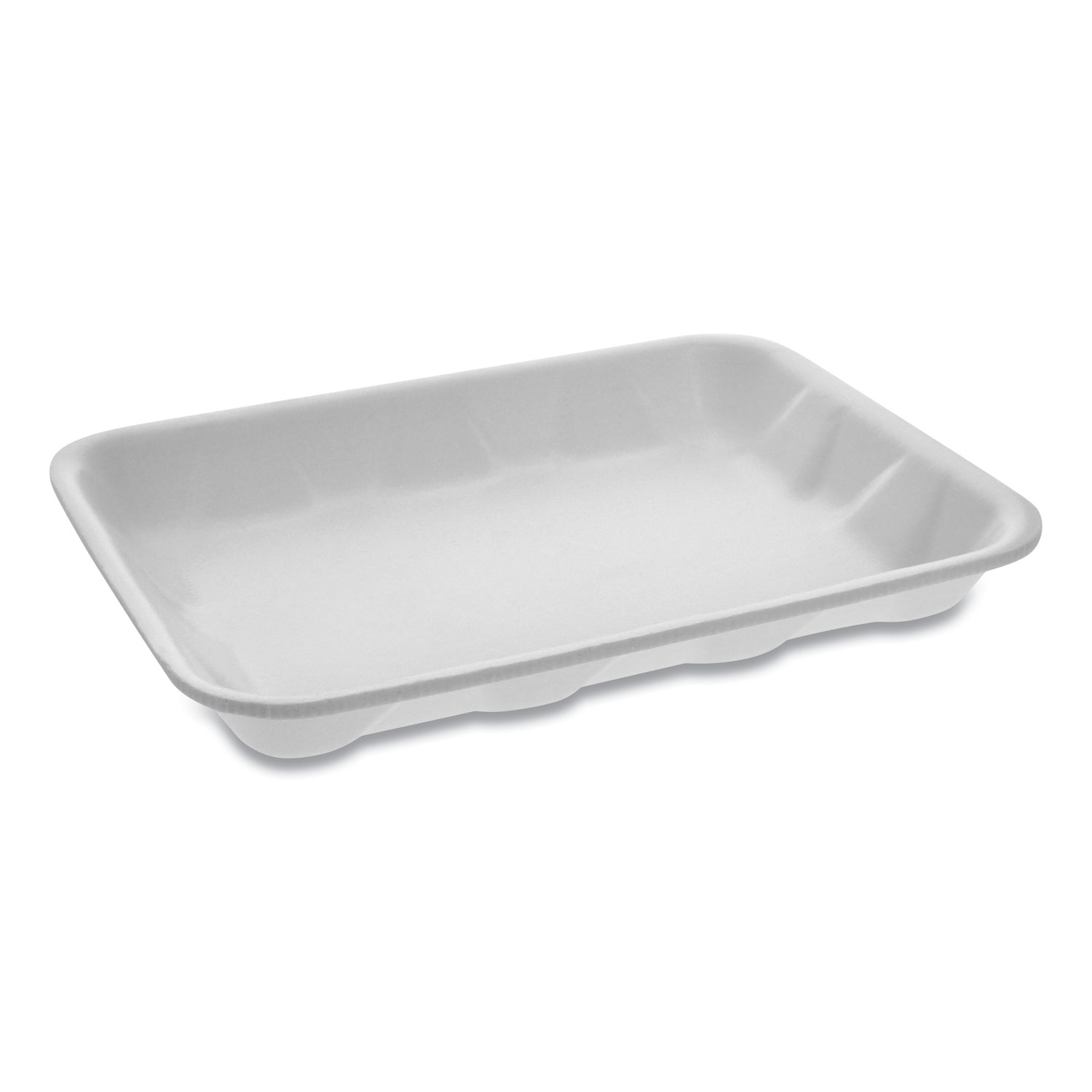 Pactiv Meat Tray, #4 Deep, 9.5 x 7 x 1.25, White, 500/Carton