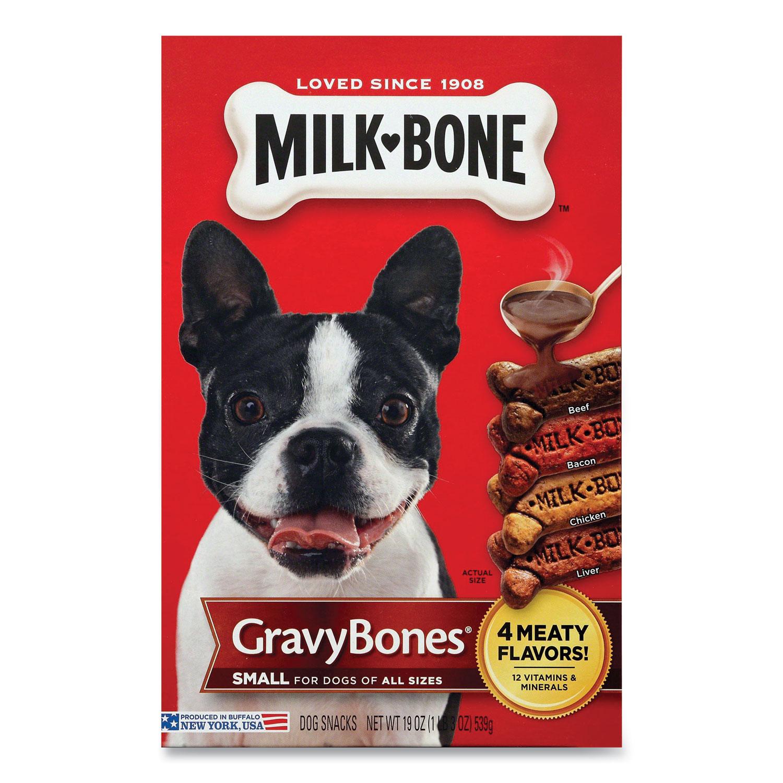 Milk-Bone® Small Sized GravyBones Dog Biscuits, Bacon; Beef; Chicken; Liver, 19 oz