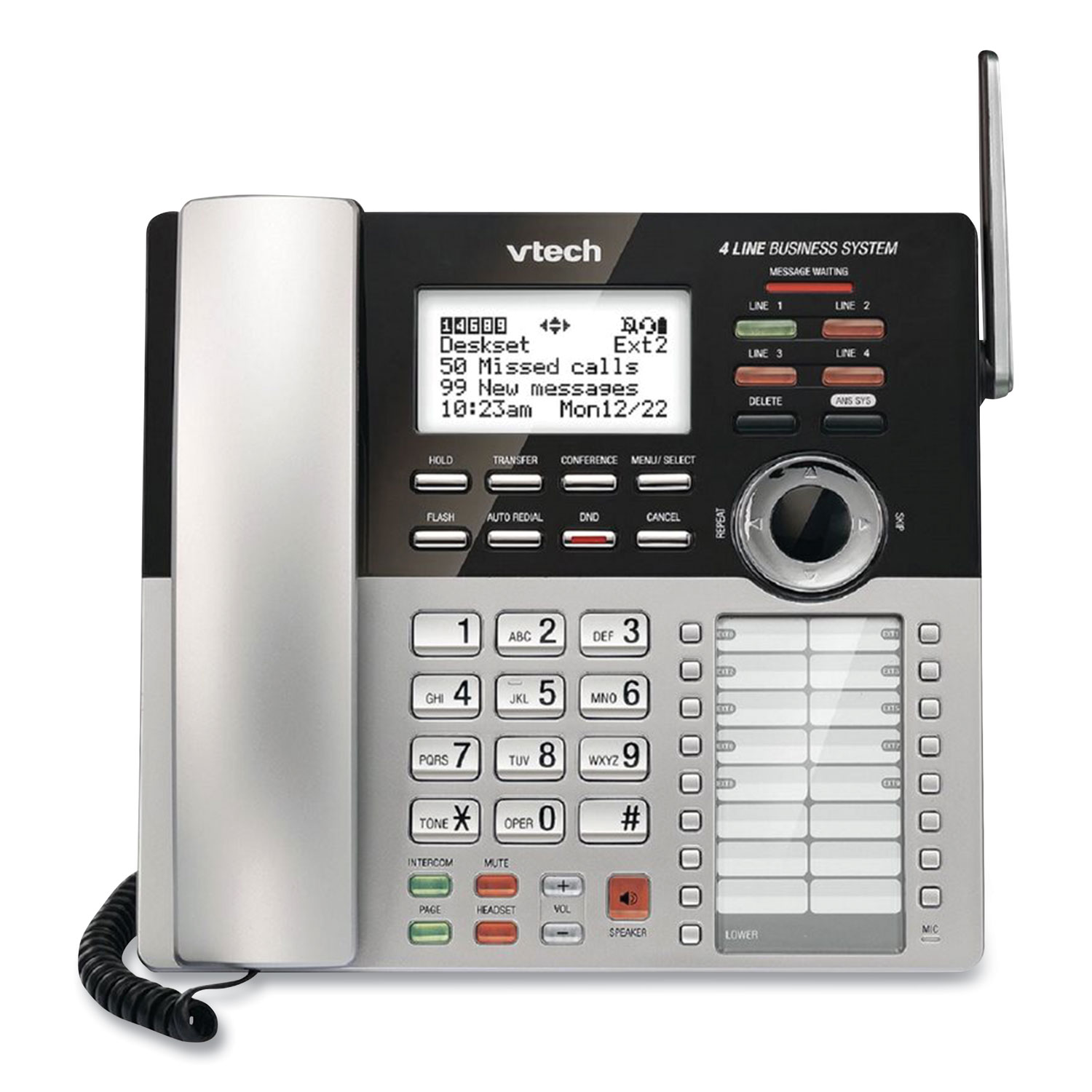 Vtech® CM18245 Four-Line Business System Extension Deskset For Ose With Vtech CM18445