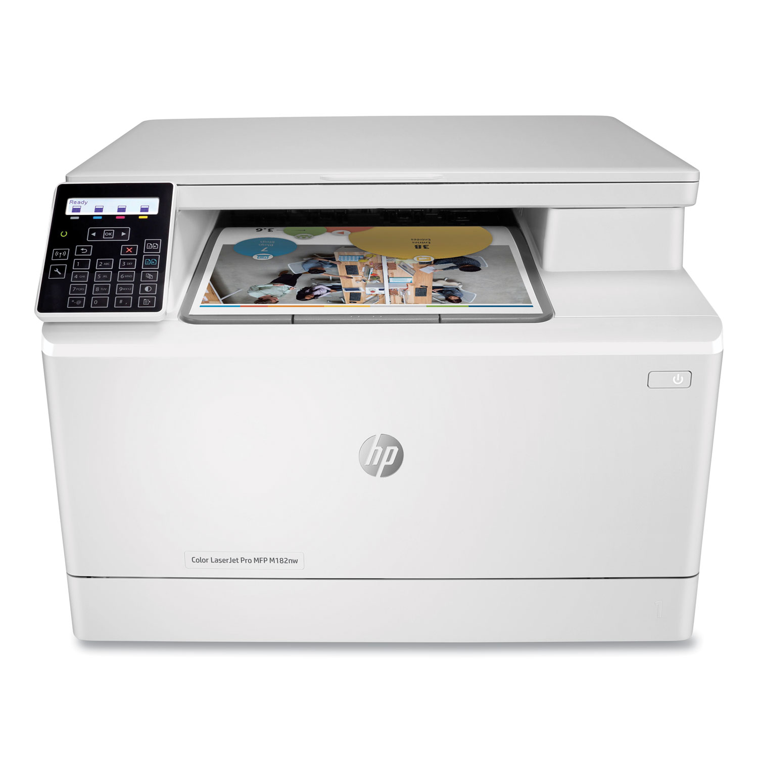 Color LaserJet Pro MFP M182nw Wireless Multifunction Laser Printer, Copy/Print/Scan