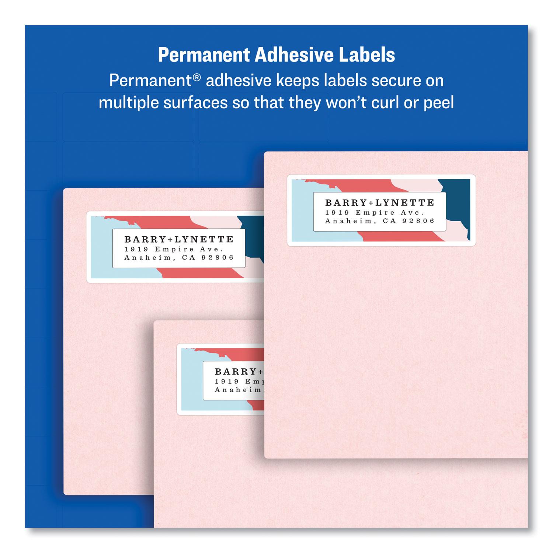 Laser Printers 1.33 x 4 14//Sheet White 6 Labels 100 Sheets//Box