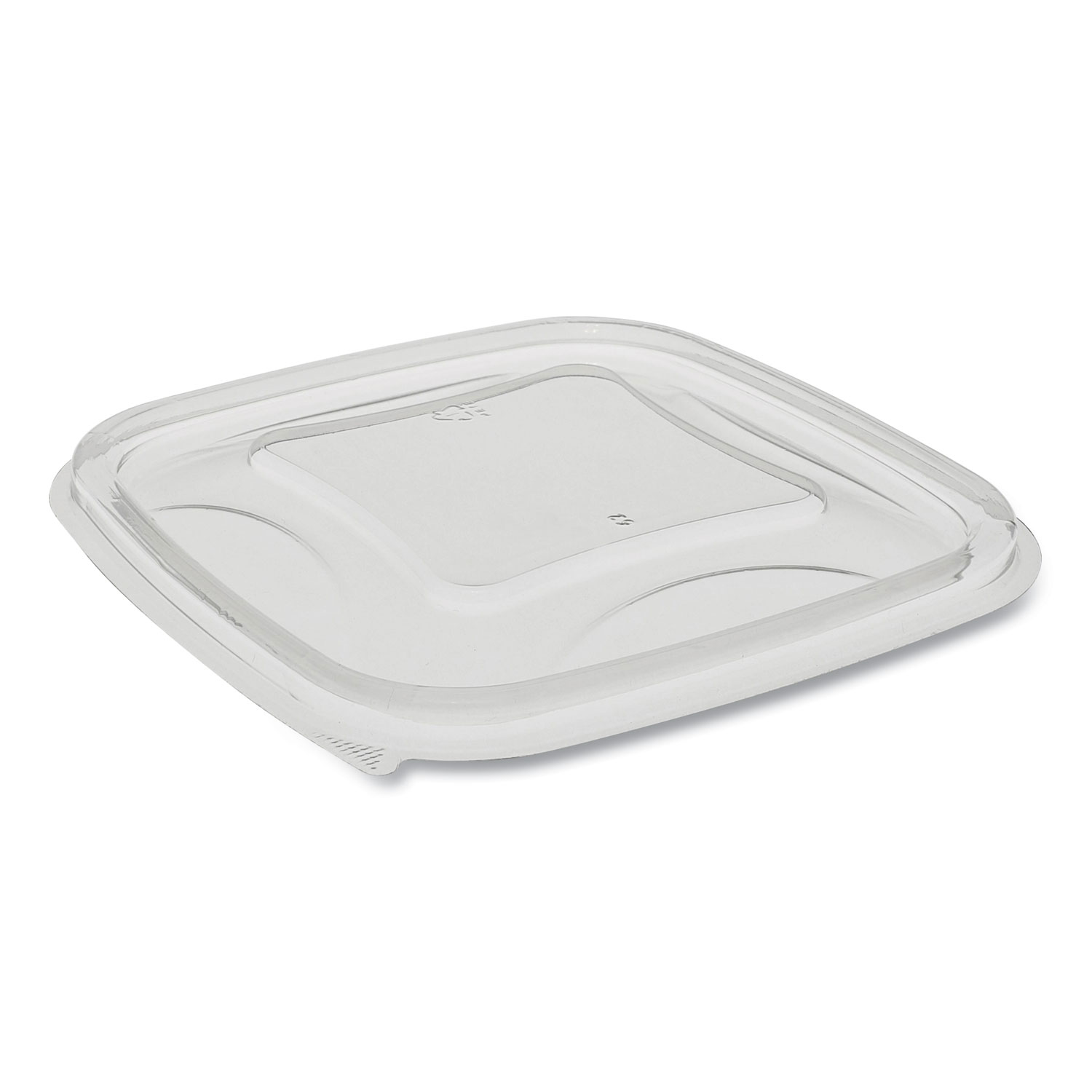 Pactiv EarthChoice Recycled Plastic Square Flat Lids, 5.5 x 5.5 x 0.75, Clear, 504/Carton