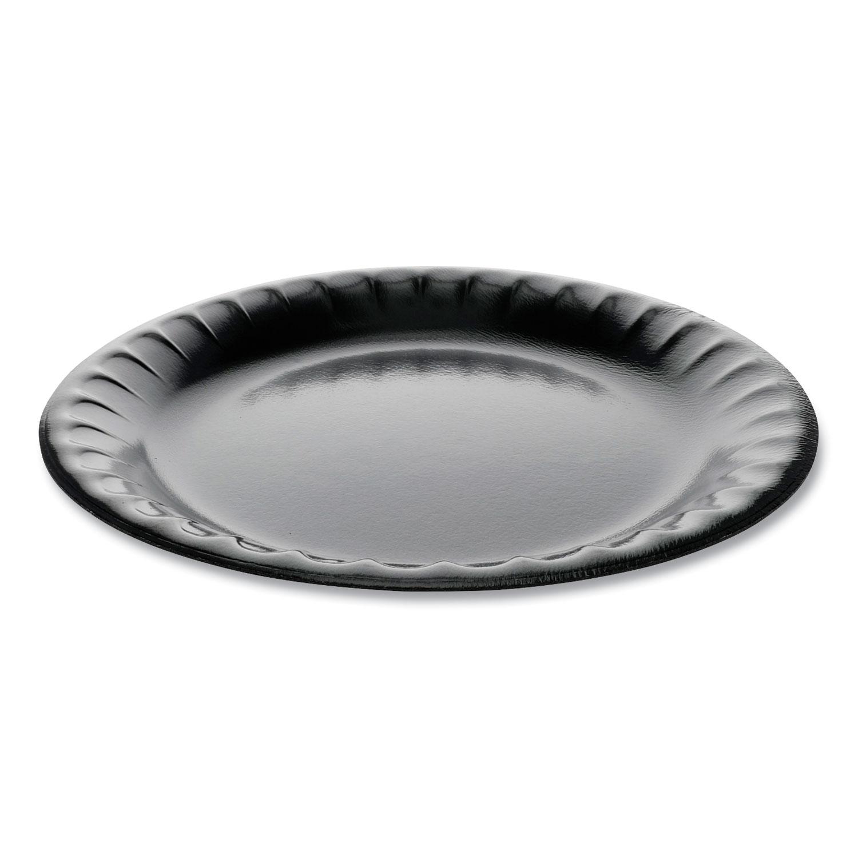 Pactiv Laminated Foam Dinnerware, Plate, 9 Diameter, Black, 500/Carton