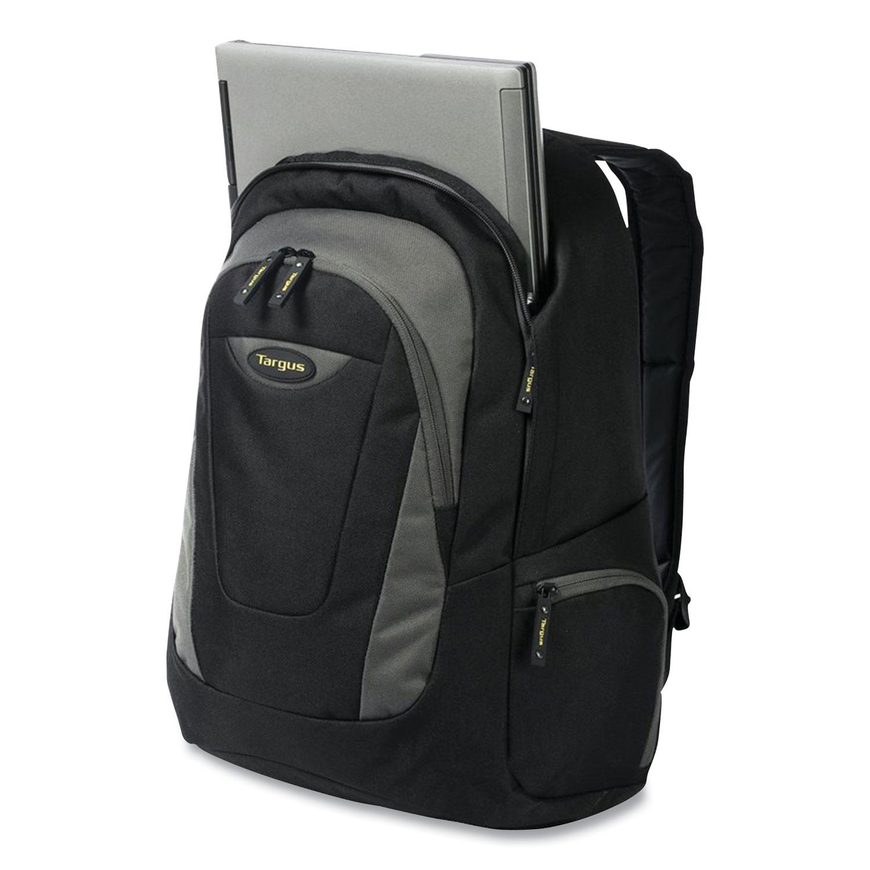 Targus® Trek Laptop Backpack, 16, 13 x 7.5 x 18.79, Black/Gray