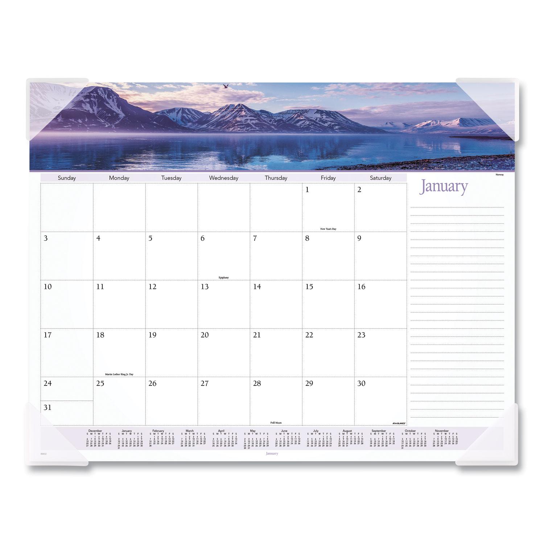Landscape Panoramic Desk Pad, 22 x 17, Landscapes, 2021