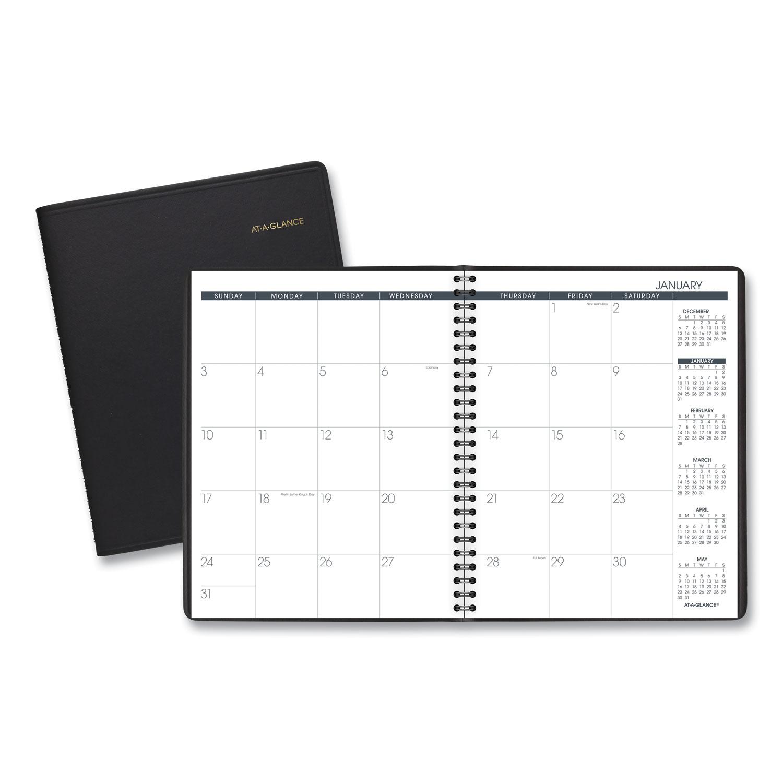 Monthly Planner, 8.75 x 7, Black, 2021