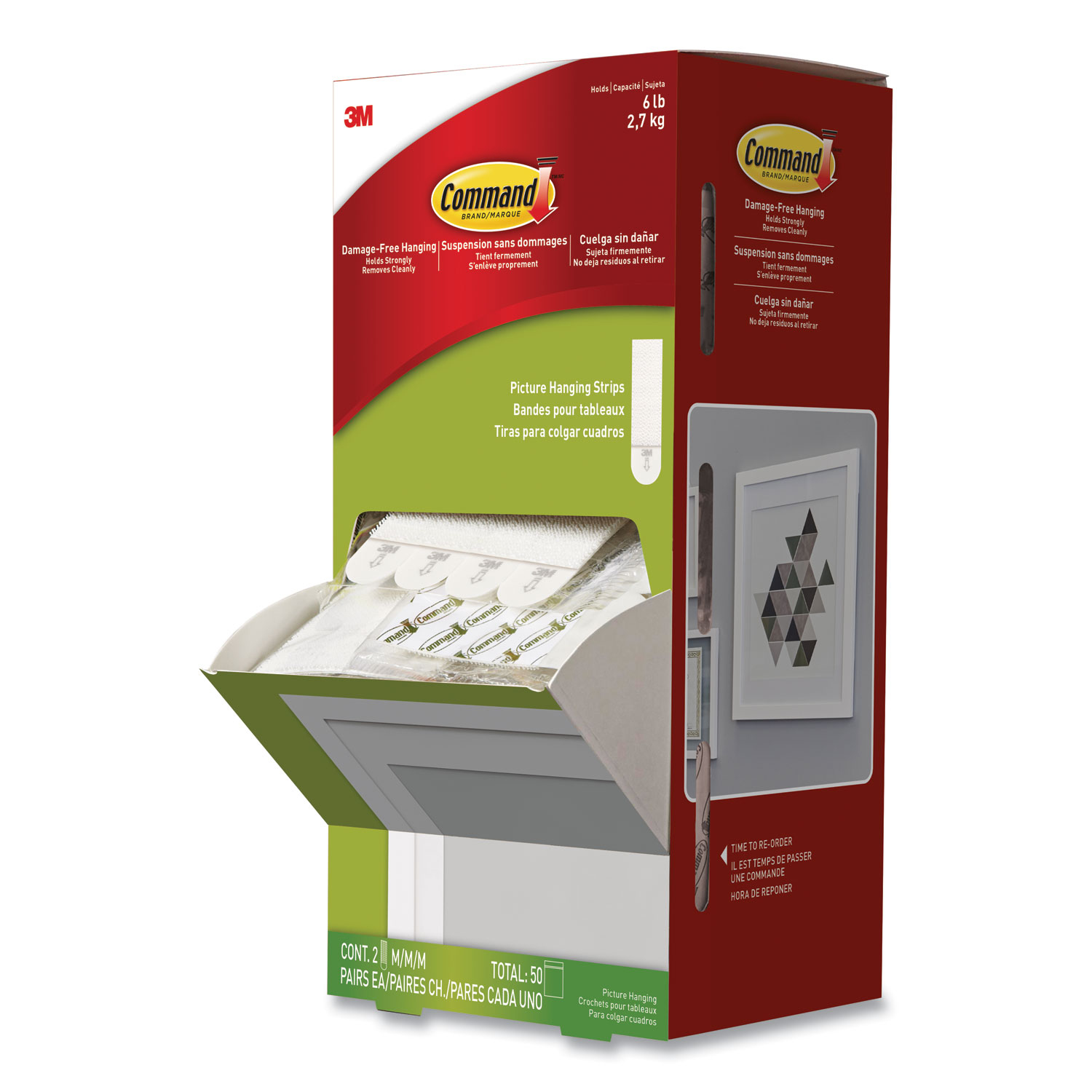*small medium /& large si 3M Command Hanging Strips: 5//8 in x 2-3//4 in. White