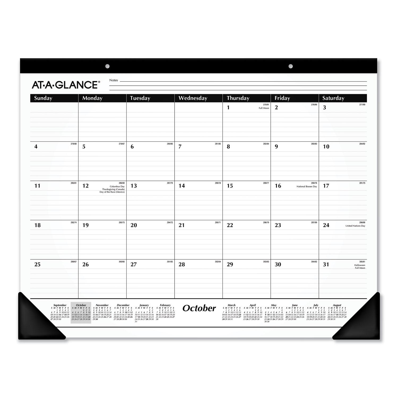 Ruled Desk Pad, 21.75 x 17, 2020-2021