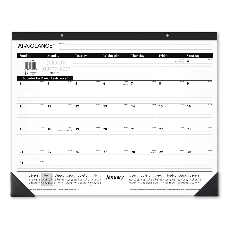 Ruled Desk Pad, 24 x 19, 2021